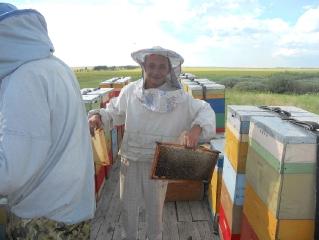 Первая качка меда на Аркаиме Июнь 2012