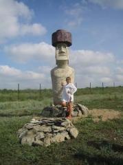 Статуя (копия) истукана ПАПА с острова Пасхи в Тихом океане