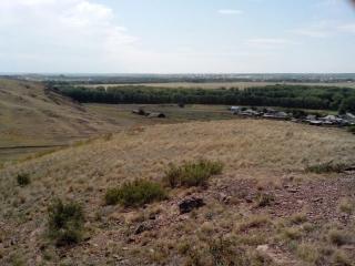 Грудь гора. Вид на посёлок Пролетарка