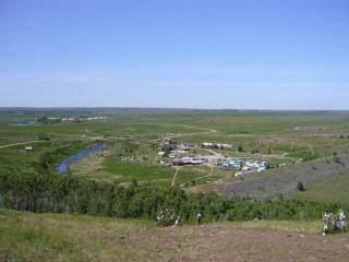 Вид с горы Любви на нижний лагерь и пос.Александровский